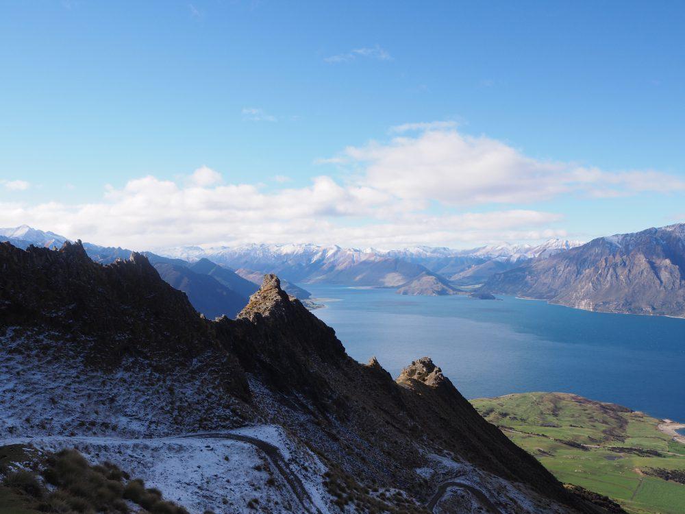 ニュージーランド観光 ワナカのトレッキングは isthmus peak が